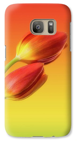 Tulip Galaxy S7 Case - Colorful Tulips by Wim Lanclus