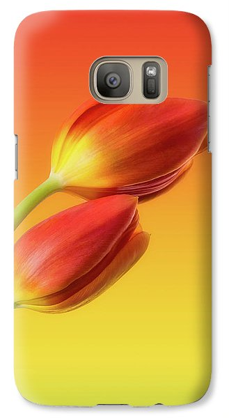 Flowers Galaxy S7 Case - Colorful Tulips by Wim Lanclus