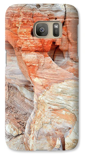 Galaxy Case featuring the photograph Colorful Wall Of Sandstone In Valley Of Fire by Ray Mathis