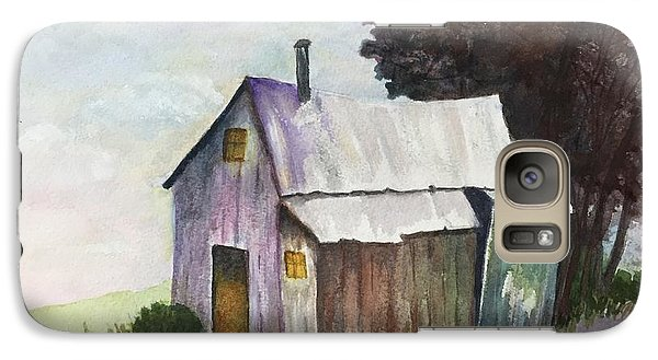 Galaxy Case featuring the painting Colorful Weathered Barn by Lucia Grilletto