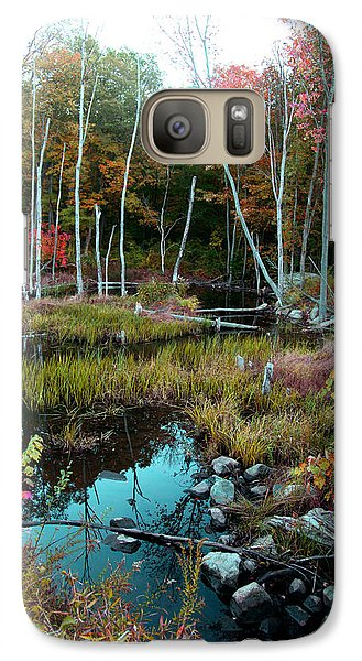 Galaxy Case featuring the photograph Colors By The Stream by Joseph G Holland