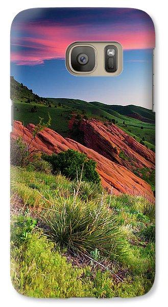 Galaxy Case featuring the photograph Colors Of A Colorado Spring Sunrise by John De Bord