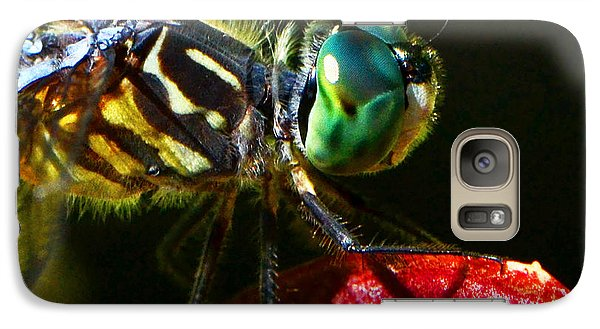 Galaxy Case featuring the photograph Colors Of Nature - Dragonfly On A Pitcher Plant 007 by George Bostian