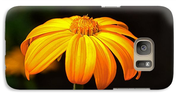 Galaxy Case featuring the photograph Colors Of Nature - Yellow Flower 020 by George Bostian