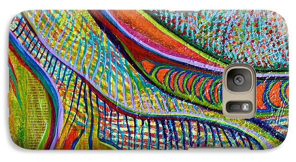 Galaxy Case featuring the mixed media Colors Of Ridgefield by Polly Castor