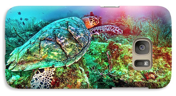 Galaxy Case featuring the photograph Colors Of The Sea In Lights by Debra and Dave Vanderlaan