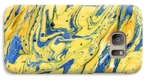 Galaxy Case featuring the painting Colors On The Lake by Menega Sabidussi
