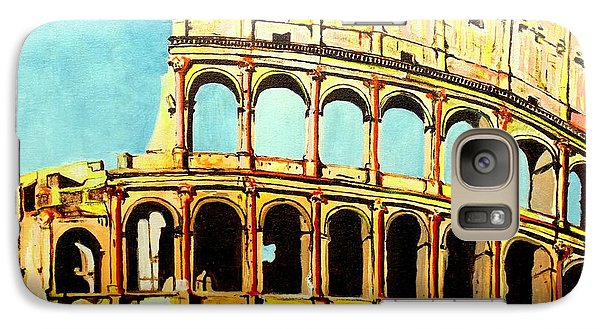 Galaxy Case featuring the painting Colosseo by Daniel Janda