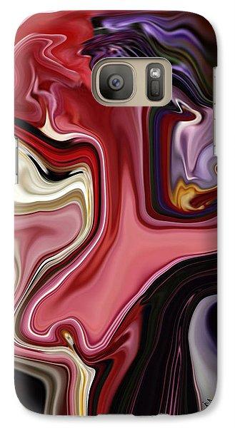 Galaxy Case featuring the digital art Colour Hair Day  by Rabi Khan