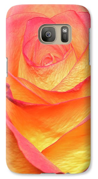 Galaxy Case featuring the photograph Colourful Rosie by Roy McPeak