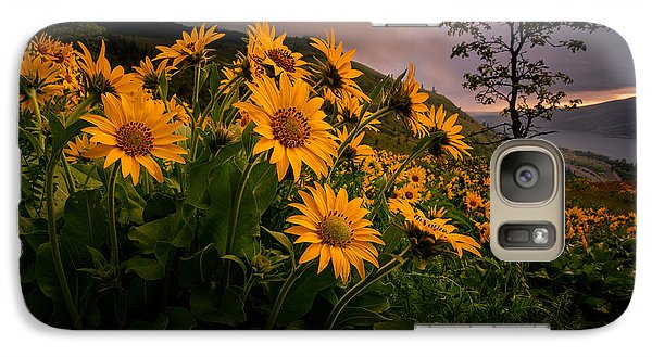 Galaxy Case featuring the photograph Columbia Gorge Joy by Dan Mihai
