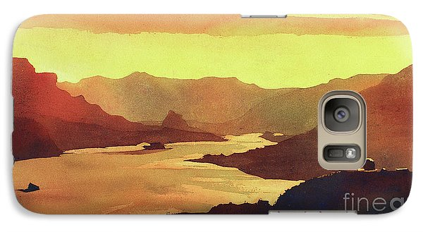 Galaxy Case featuring the painting Columbia Gorge Scenery by Ryan Fox