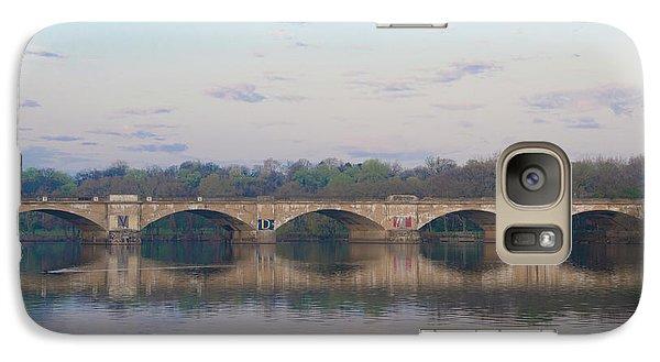 Galaxy Case featuring the photograph Columbia Railroad Bridge - Philadelphia by Bill Cannon