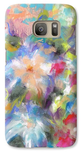 Galaxy Case featuring the painting Columbine In The Wildflowers by Frances Marino