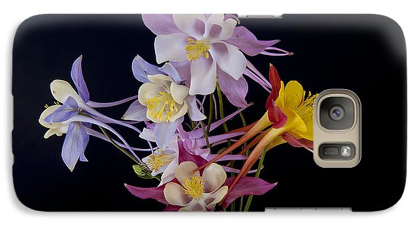 Galaxy Case featuring the photograph Columbine Medley by Gary Lengyel