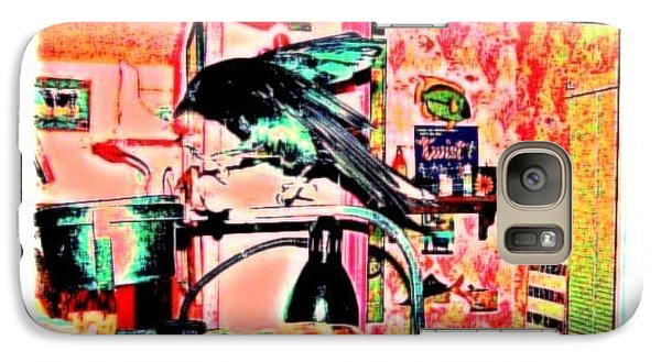 Galaxy Case featuring the mixed media Crow Dance by YoMamaBird Rhonda