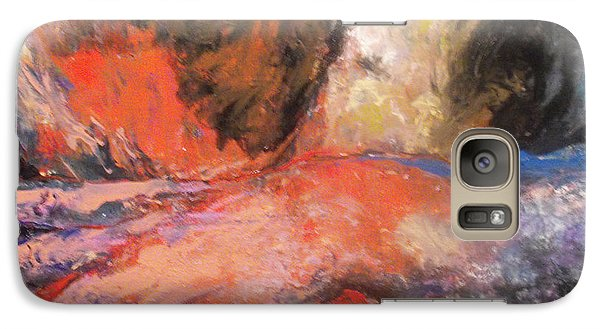 Galaxy Case featuring the painting Comforting Embrace by Koro Arandia