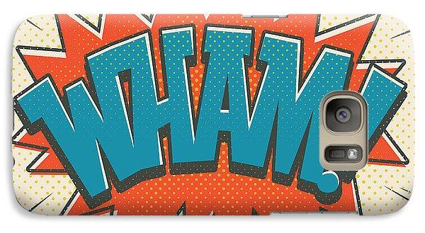 Spider Galaxy S7 Case - Comic Wham On White by Mitch Frey