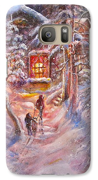 Galaxy Case featuring the painting Coming Home by Patricia Schneider Mitchell