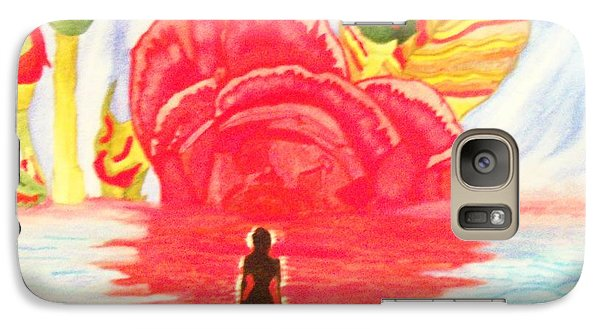 Galaxy Case featuring the painting Coming Out Of One World Into Another by Connie Valasco