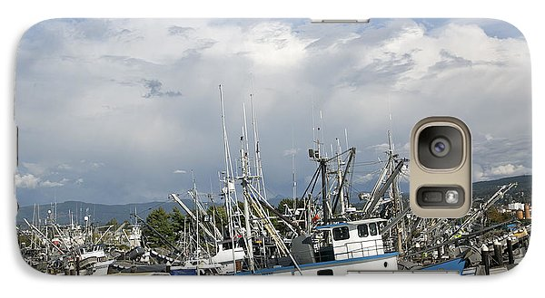 Galaxy Case featuring the photograph Commerical Fishing Boats by Elvira Butler