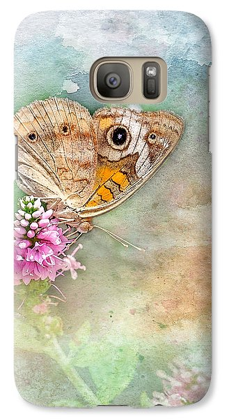 Galaxy Case featuring the photograph Common Buckeye by Betty LaRue