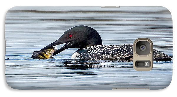 Common Loon Square Galaxy S7 Case by Bill Wakeley