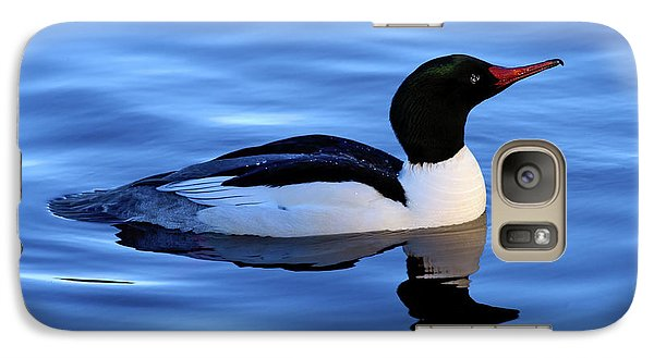 Galaxy Case featuring the photograph Common Merganser Duck In Stanley Park by Terry Elniski