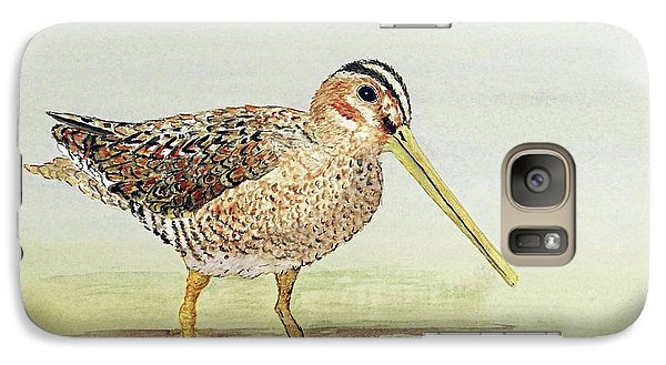 Galaxy Case featuring the painting Common Snipe Wading by Thom Glace