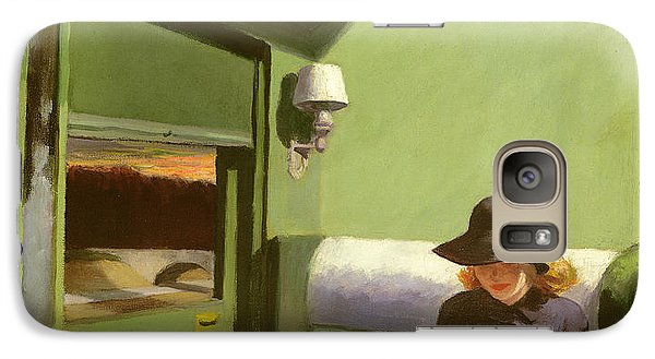 Train Galaxy S7 Case - Compartment C by Edward Hopper