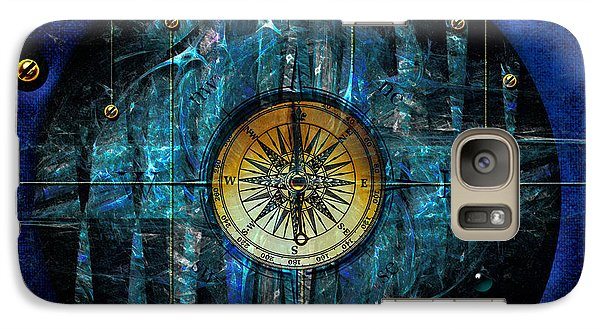 Galaxy Case featuring the digital art Compass by Alexa Szlavics