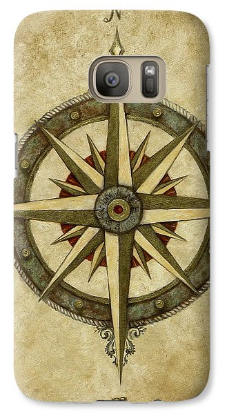 Rose Galaxy S7 Case - Compass Rose by Judy Merrell