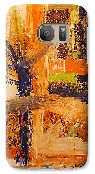 Galaxy Case featuring the painting Composition Orientale No 5 by Walter Fahmy