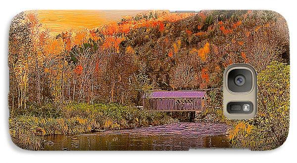 Galaxy Case featuring the digital art Comstock Bridge by John Selmer Sr