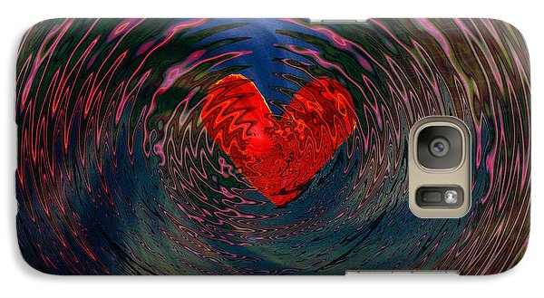 Galaxy Case featuring the digital art Concentric Love by Linda Sannuti