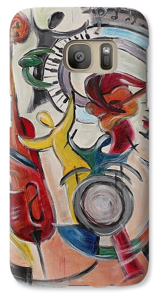 Galaxy Case featuring the painting Concert by Sladjana Lazarevic