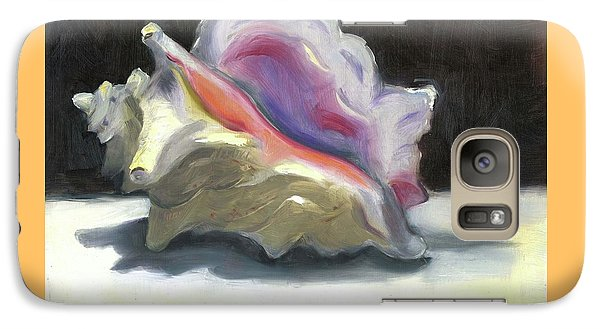Galaxy Case featuring the painting Conch Shell by Susan Thomas