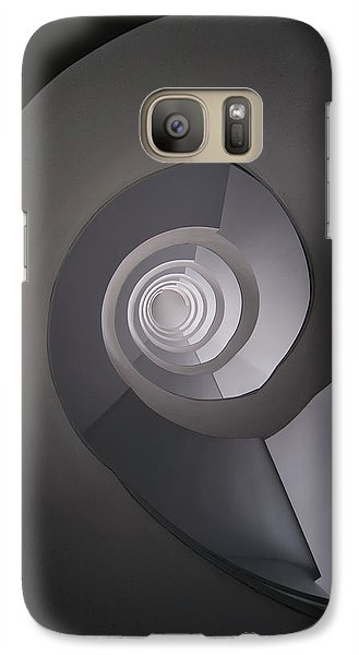 Galaxy Case featuring the photograph Concrete Abstract Spiral Staircase by Jaroslaw Blaminsky