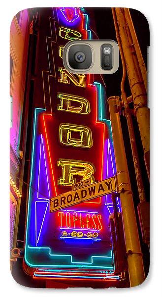 Condor Neon On Broadway Galaxy S7 Case by Garry Gay