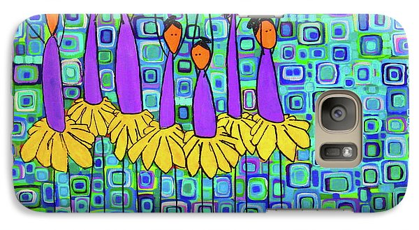 Galaxy Case featuring the painting Coneflower Ballet by Donna Howard
