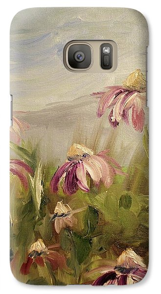 Galaxy Case featuring the painting Coneflowers by Donna Tuten