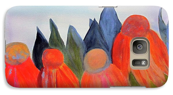 Galaxy Case featuring the painting Coneflowers by Sandy McIntire