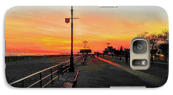 Coney Island Boardwalk Sunset Galaxy S7 Case
