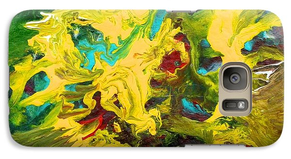 Galaxy Case featuring the painting Confrontation by Polly Castor