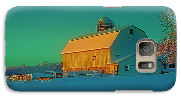 Galaxy Case featuring the photograph Conley Rd White Barn by Tom Jelen