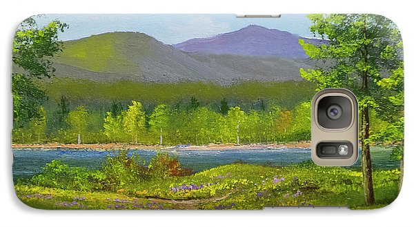 Galaxy Case featuring the painting Connecticut River Spring by Frank Wilson
