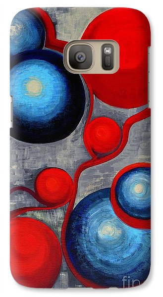 Galaxy Case featuring the painting Connections by Holly Carmichael