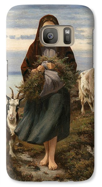 Goat Galaxy S7 Case - Connemara Girl by Augustus Nicholas Burke