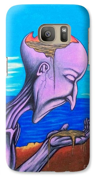 Galaxy Case featuring the drawing Conscious Thought by Michael  TMAD Finney