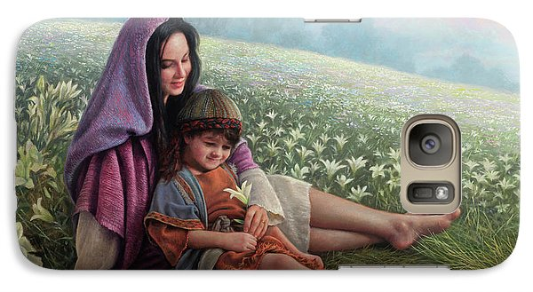 Galaxy Case featuring the painting Consider The Lilies by Greg Olsen